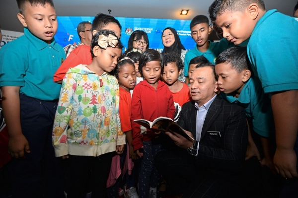 Dr Maszlee recently launched a campaign targeted at increasing reading habits among Malaysians in cinemas nationwide. At the event, MPH Bookstores donated reading materials to two orphanages. u2014 Photo: RAJA FAISAL HISHAN/The Star