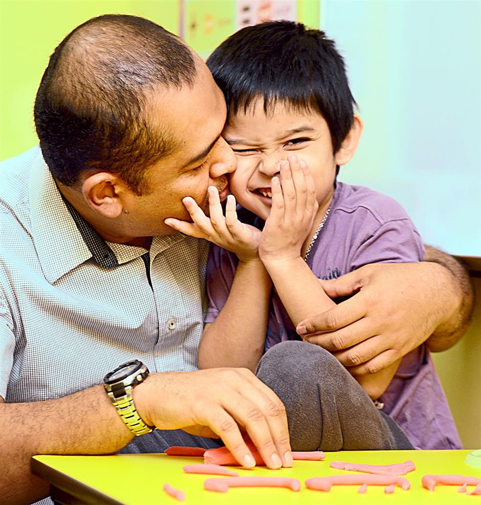 Father Day story on father Mohd Fakhry who helped set up a centre for autistic children to help his autistic son at Paragon utama in Selayang,KL on 09 June 2014.The Star/Sia Hong Kiau
