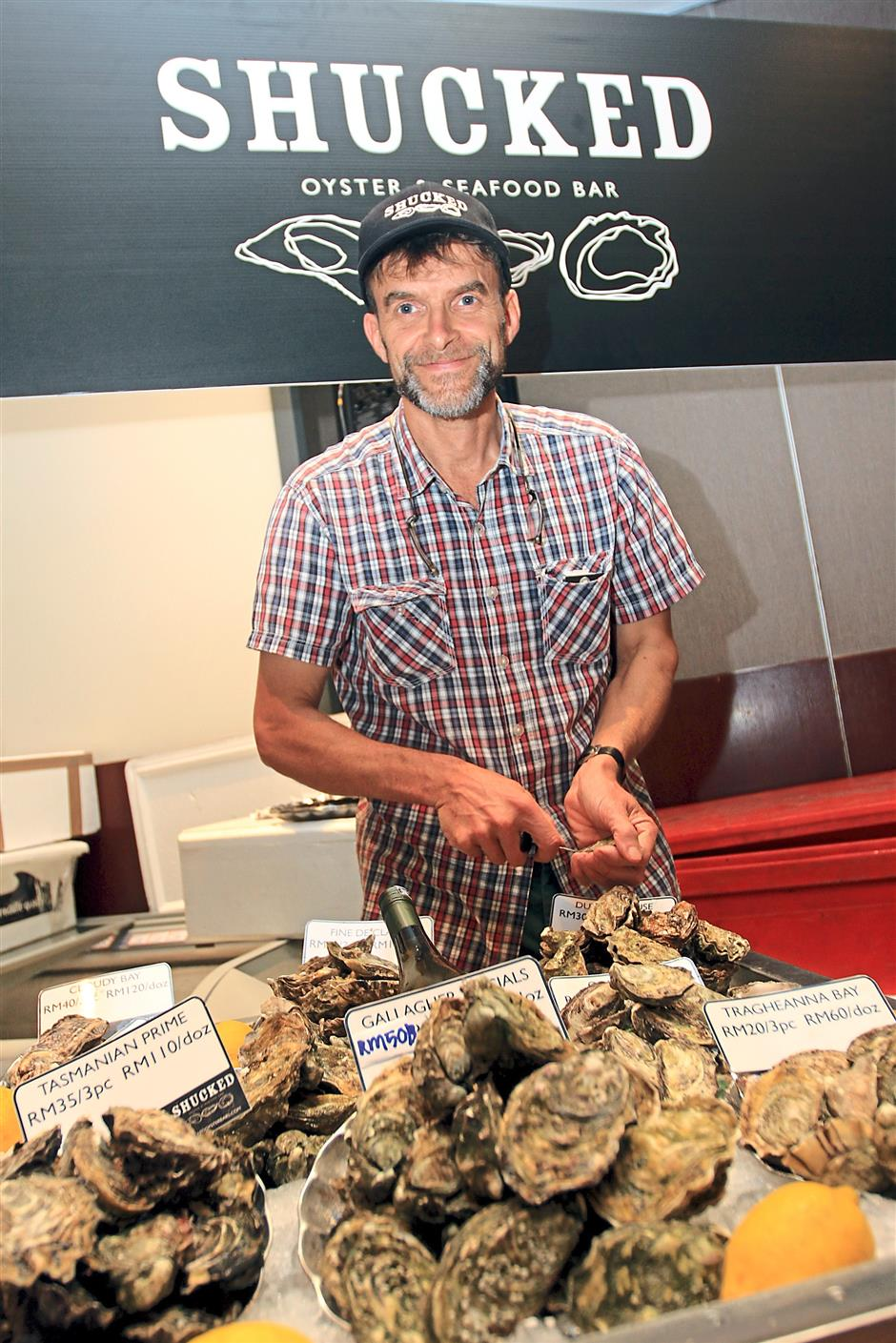 Green says Southern Rock Seafood Sdn Bhd offers eight types of oysters from around the world.