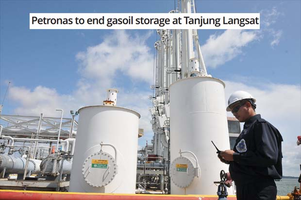 Petronas to end gasoil storage at Tanjung Langsat | The Star