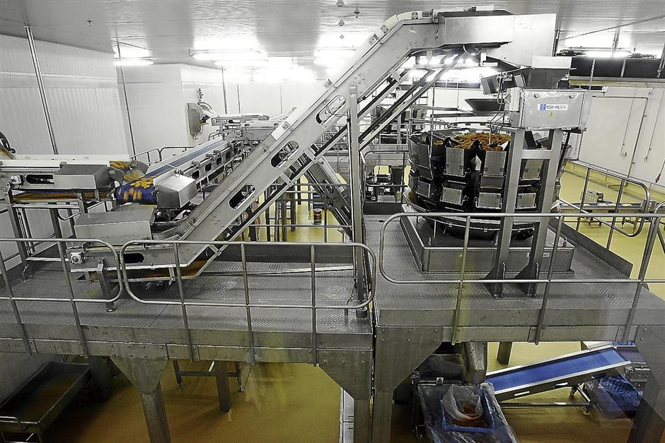 This is the section where the nuggets are processed