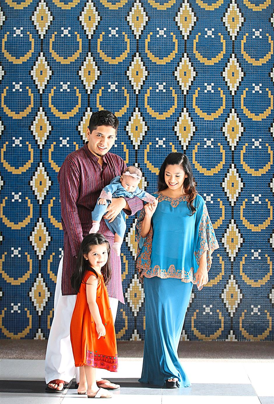 All about family: Some day, Omer Sohail would like to observe Ramadan in Pakistan with his Malaysian wife Nurul Huda and their two daughters.