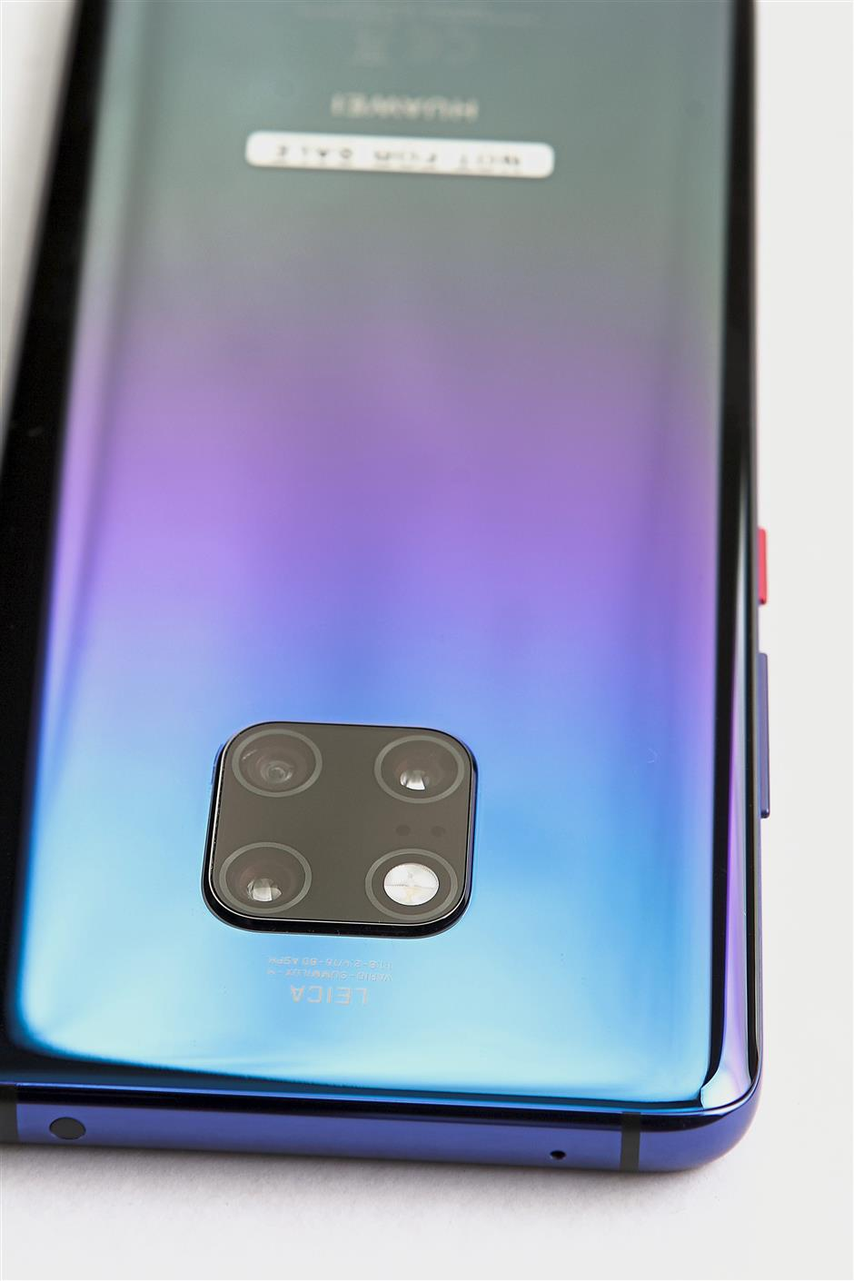 The Mate 20 Pro has a 40-megapixel wide-angle camera, a 20-megapixel ultra-wide camera and an 8-mega-pixel camera with 3x zoom.