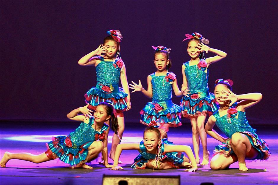 Young dancers performing to 'Cant Stop the Feeling', choreographed by Jeamie Lee-Parker.