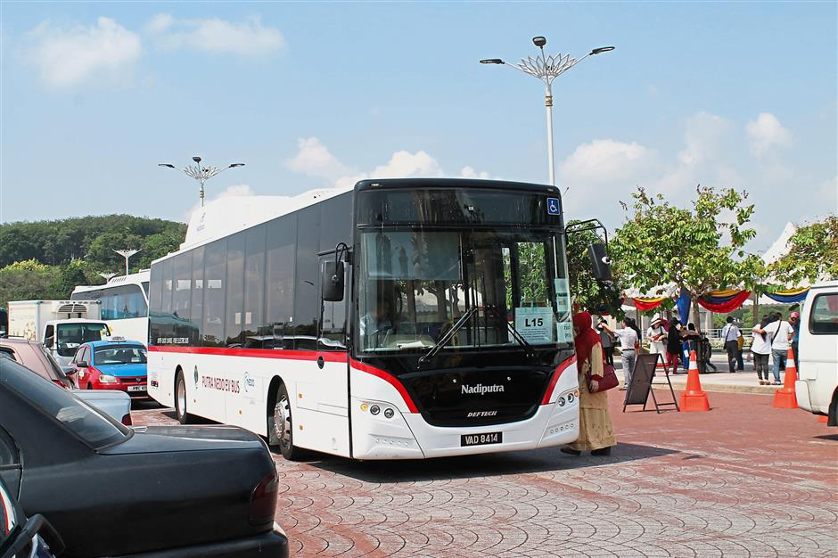 Ten electric buses are being used in Putrajaya currently.