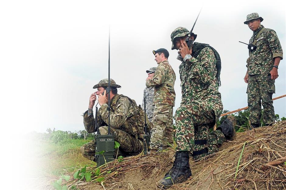 The two armed forces testing their communications capabilities.