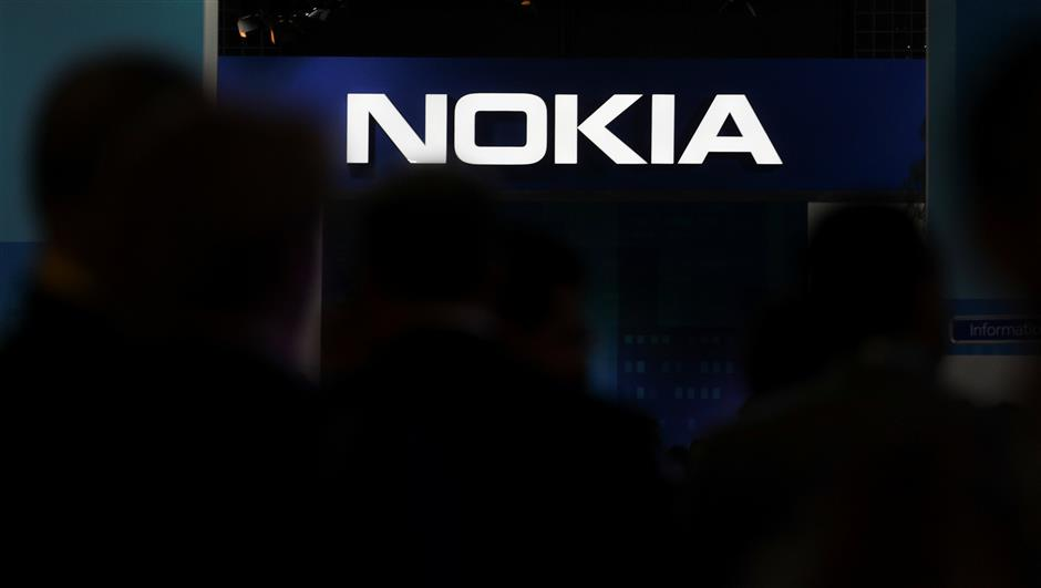 The Nokia logo is seen at the Mobile World Congress in Barcelona, Spain, February 28, 2018. REUTERS/Sergio Perez
