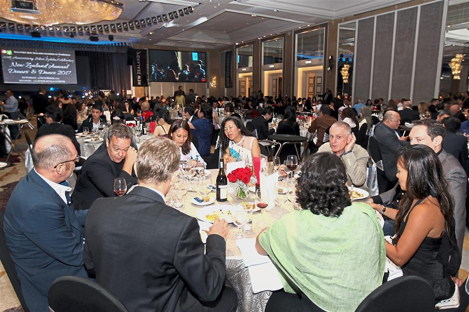 More than 600 guests turned up for the dinner and dance.
