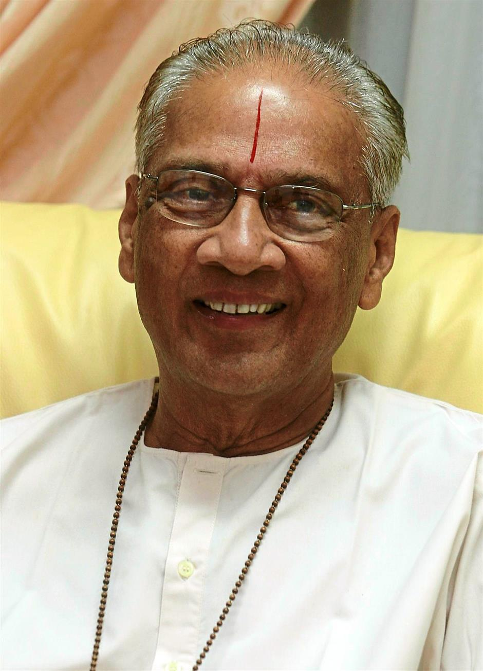 Parthasarathy has been studying the ancient philosopy of Vedanta for most of his life. — Filepic
