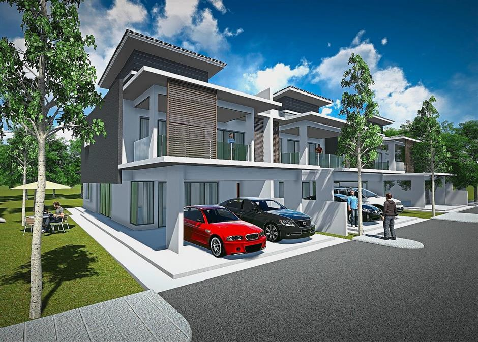 Gelugor Heights' Type B semi-detached units ooze contemporary style.