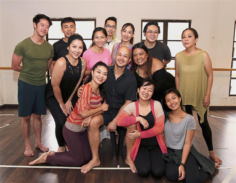 The cast members of 'Company' during rehearsal. — LOW LAY PHON/The Star