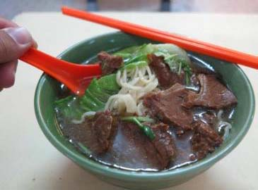 Cheap and tasty:The Taiwanesebeef noodles fromSection 14'sMedan Selera.
