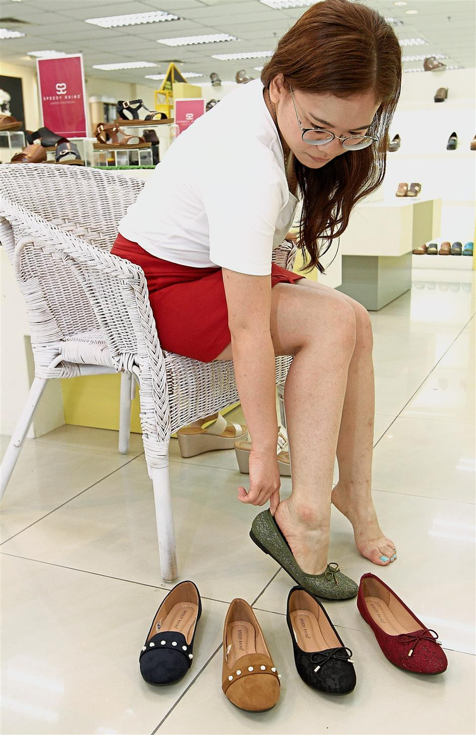 Sales driver: Women's shoes currently make up the bulk of its sales, contributing 70 to turnover.
