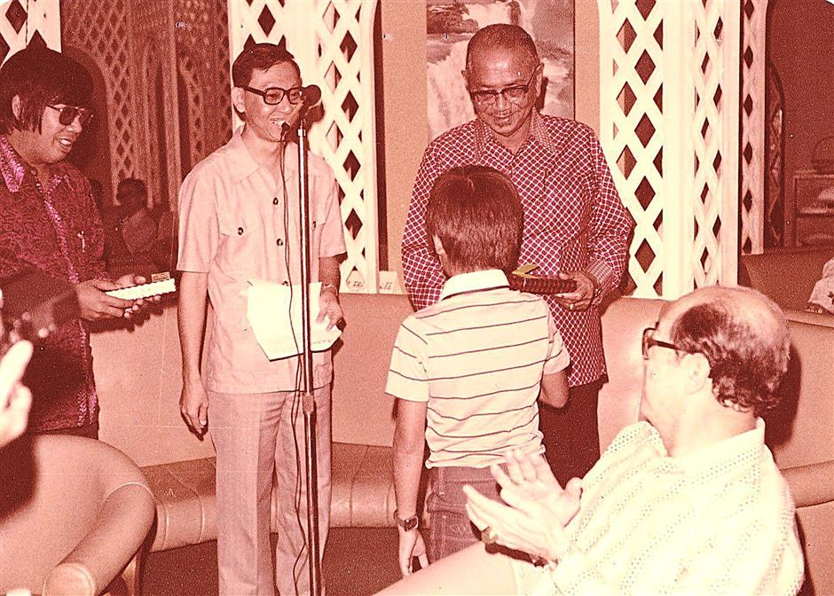 Third prize winner Ernest Yee submitted this picture taken in Aug 1978  where Yee is beside Tunku at the launch of Tunku's book