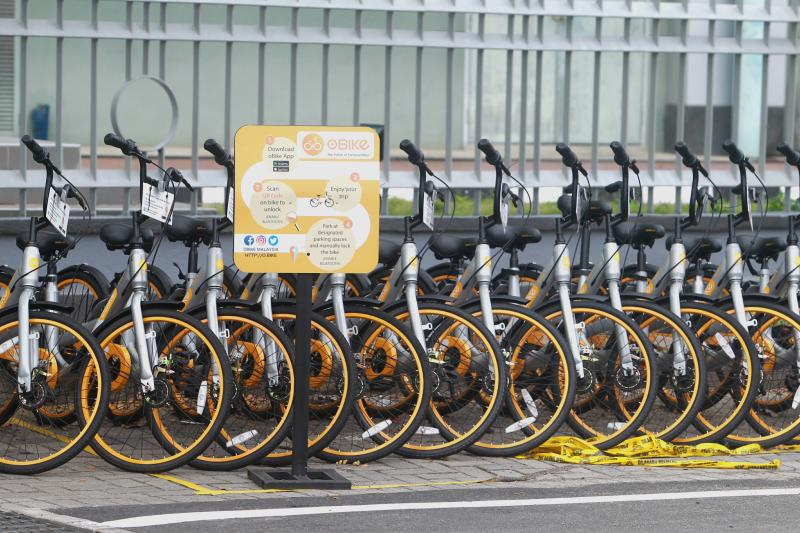 oBike users are encouraged to report damaged bicycles through the oBike app or on oBike Malaysiau2019s Facebook page to facilitate repairs and the filing of police reports. -Filepic