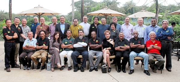 The ex-staff of Malaysia Air Charter at the reunion dinner.