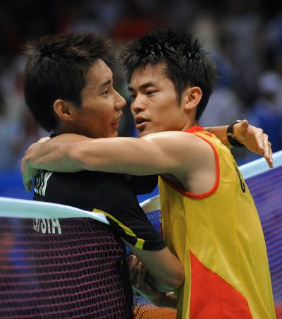 A file photo of Chong Wei and Lin Dan from Aug 17, 2008 at the Beijing Olympics. The duo were arguably the sports greatest-ever rivalry, but were great friends off the court. – AFP