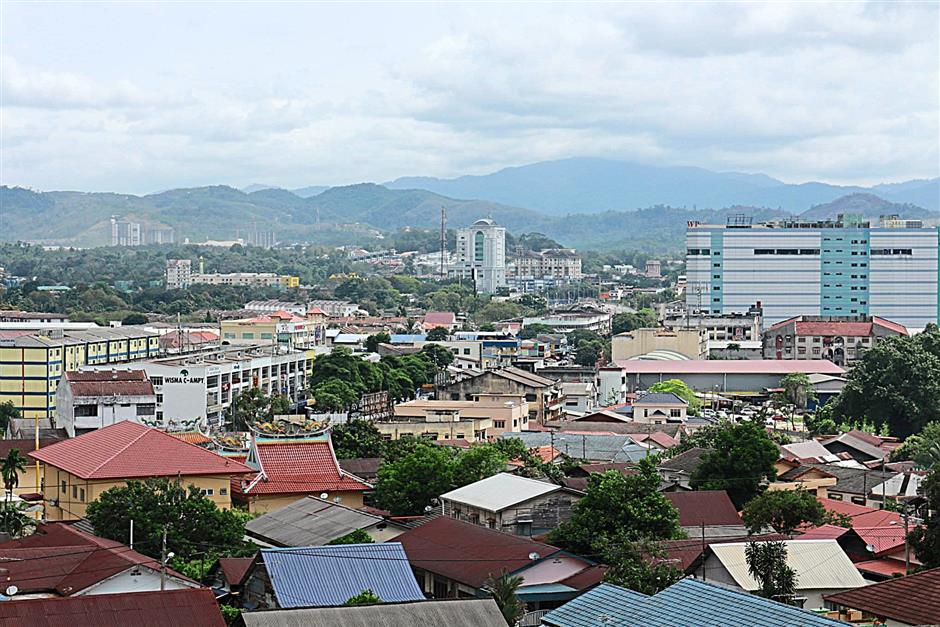 A view from Kajang from the highest elevation in Sungai Chua.
