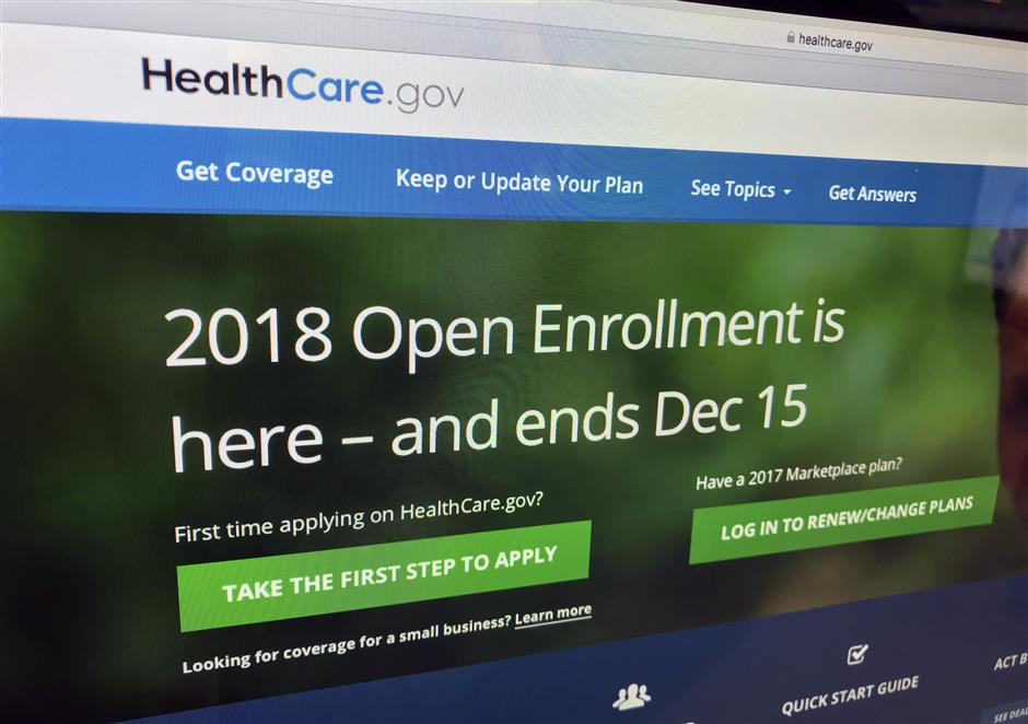 The HealthCare.gov website is photographed in Washington on Dec. 15, 2017.   Millions of people covered under the Affordable Care Act will see only modest premium increases next year, and some will actually get a price cut. Thatu2019s from an exclusive analysis bound to surprise u2018Obamacareu2019 opponents and supporters. The study of state data by Avalere Health and The Associated Press also found that insurers arenu2019t bailing out of the ACA marketplaces anymore; some are coming back. The average premium increase across 47 states and Washington, D.C. will be 3.6 percent in 2019. (AP Photo/Jon Elswick)