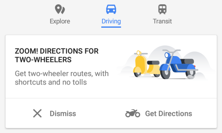 Google Maps rolls out Motorcycle mode in Indonesia | The ... on maps satellite view google, maps get directions, maps history google, maps maps google,