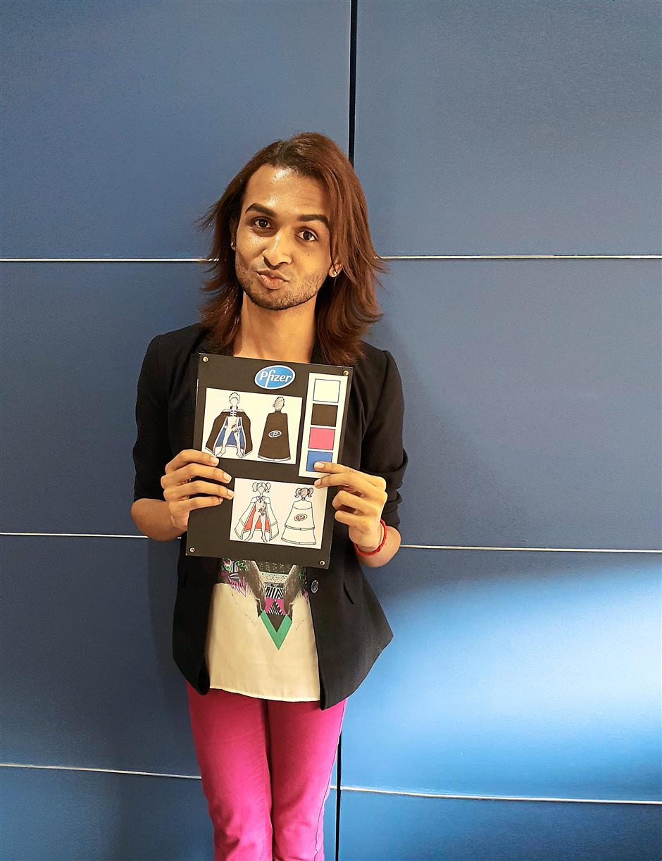 Homegrown fashion design graduate Hariharan Arasu, 24, has created capes based on the idea of strength and protection for Pfizer Malaysias Kidstrong campaign.