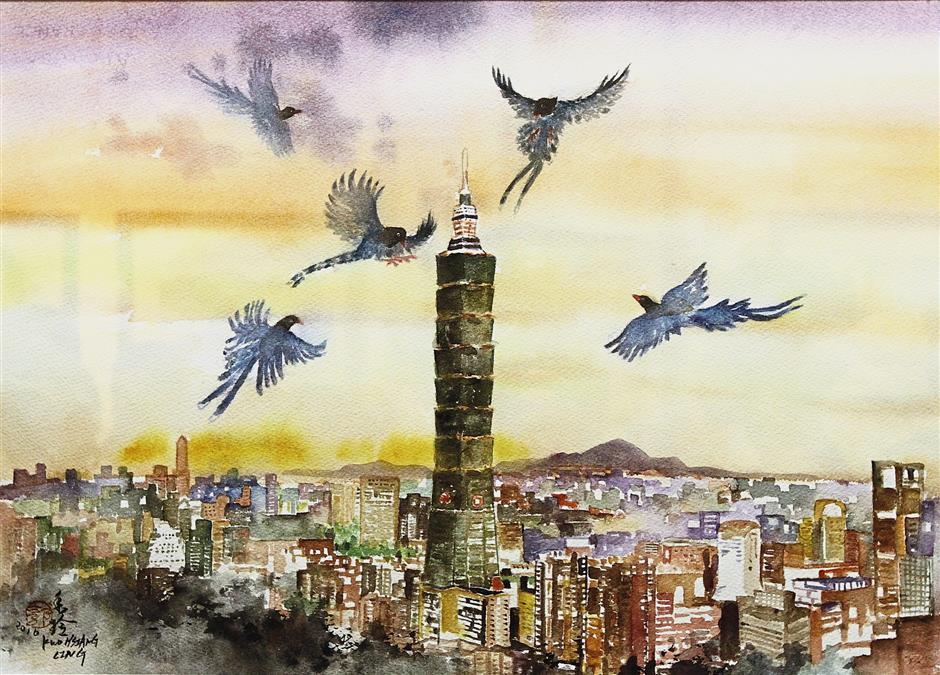 The beautiful 'Taiwan Sky' by Kuo.