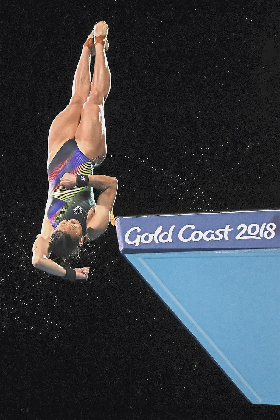 Pandelela Rinong competes in the womens 10m platform diving final of the Gold Coast 2018 Commonwealth Games at the Aquatic Centre in Gold Coast, Australia, April 12 2018. GLENN GUAN/The Star