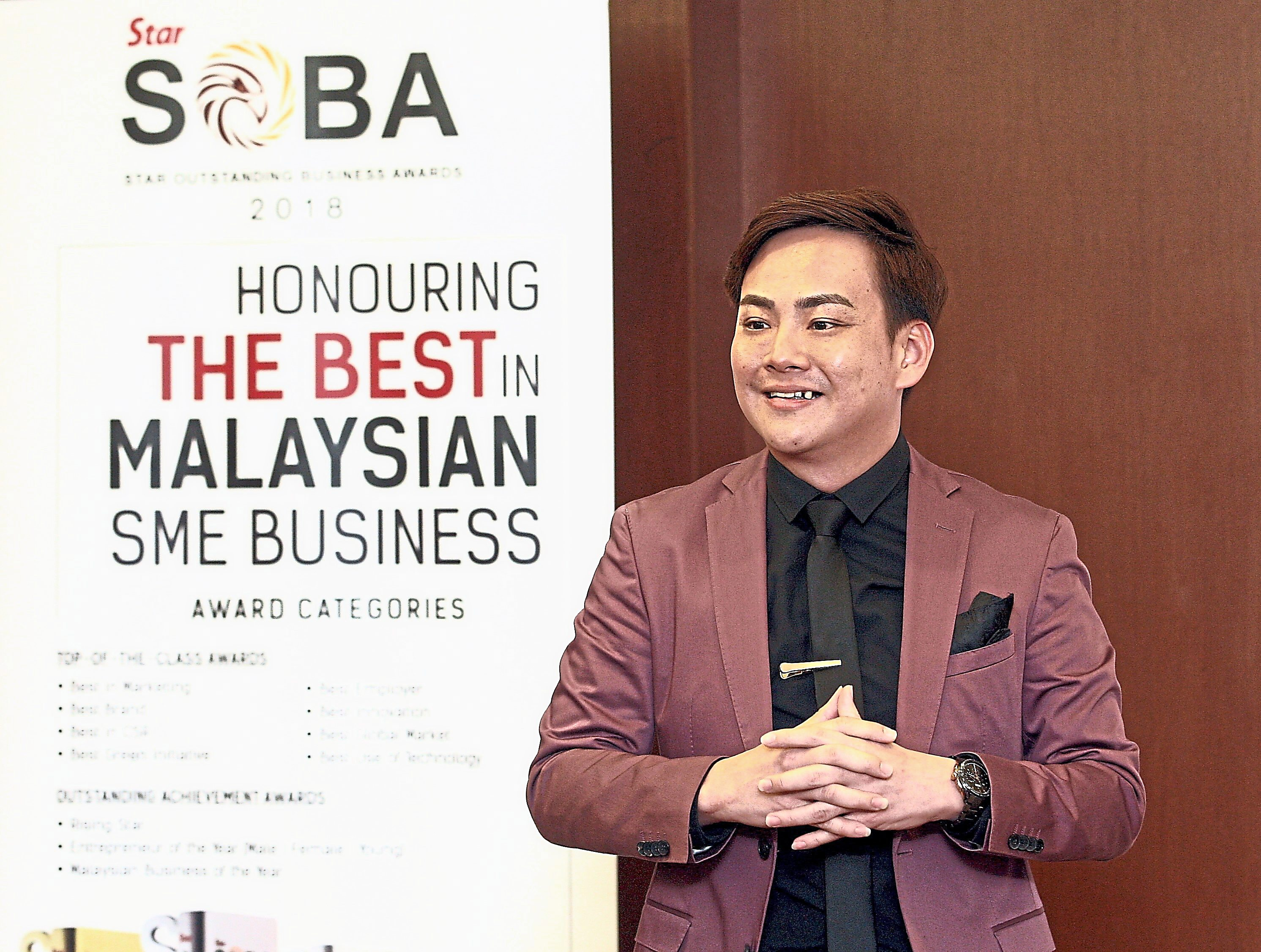 Khiu, a past recipient of SOBA's Young Entrepreneur of the Year award, says the award increased media exposure for his company in print and online platforms.