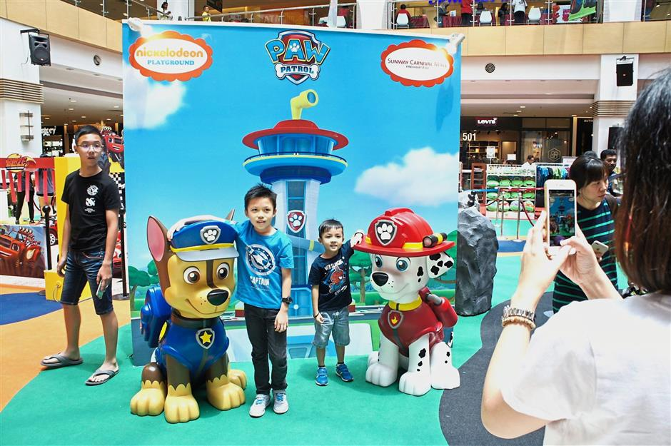 Pose with the Paw Patrol's cute pups at  the special photo corner.