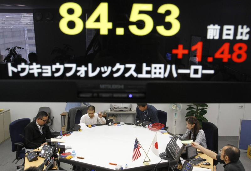 The yen has ben falling steadily against the dollar after Japanese Prime Minister Abe cranked up the money-printing machines, going from 84.43 a dollar in Oct 2010 to above 100. It fetched 108.57 on Thursday - Reuters Photo.