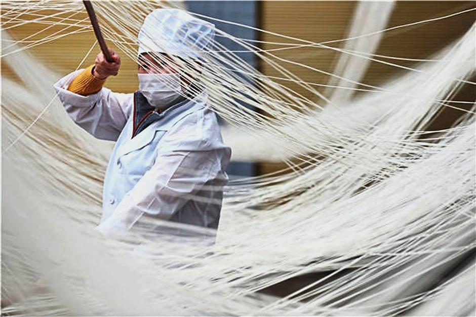 Huge market: The company will be entering the China market, the world's largest noodle consumer. — Xinhua