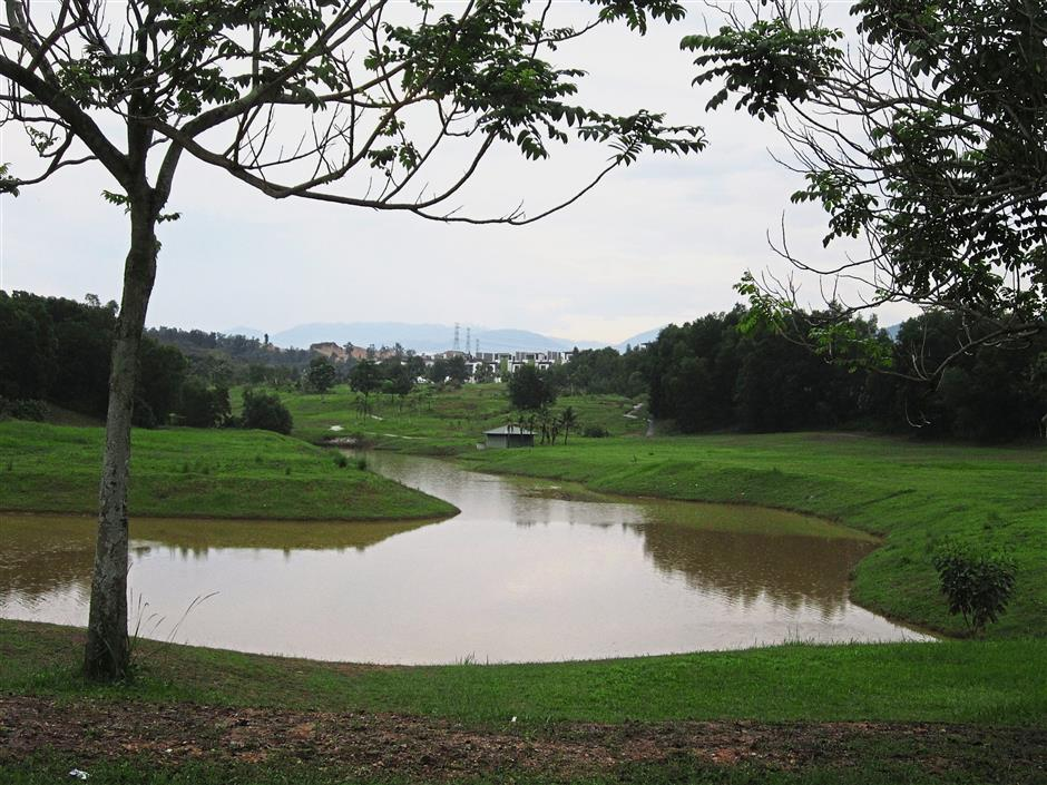 What was once Emerald Golf Course in Rawang is now a public recreational park.