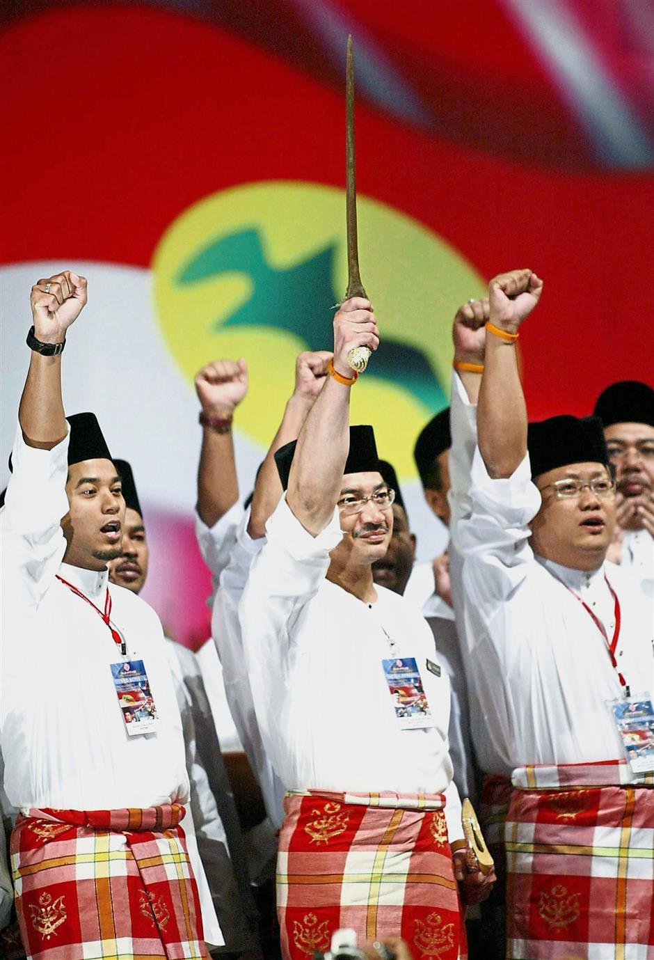 "Unpopular tactic:: Umno continued to play on the race and religion sentiments to maintain power, like its Umno Youth chief Datuk Seri Hishamuddin Tun Hussein, who brandished the ""Keris Panca Warisan"" at the begining of their assembly in PWTC in 2011."