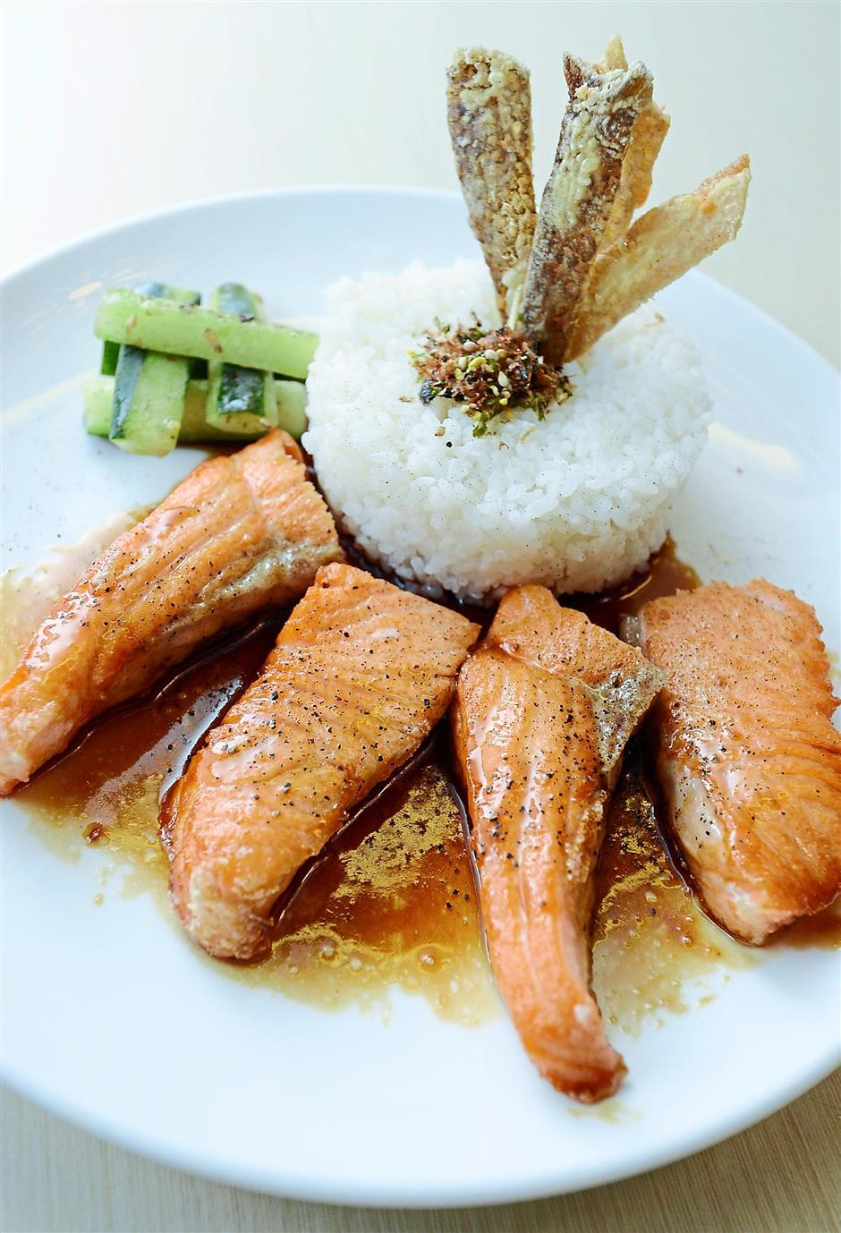 Fresh and tasty: The Salmon Teriyaki is prepared with just the right amount of flavour.