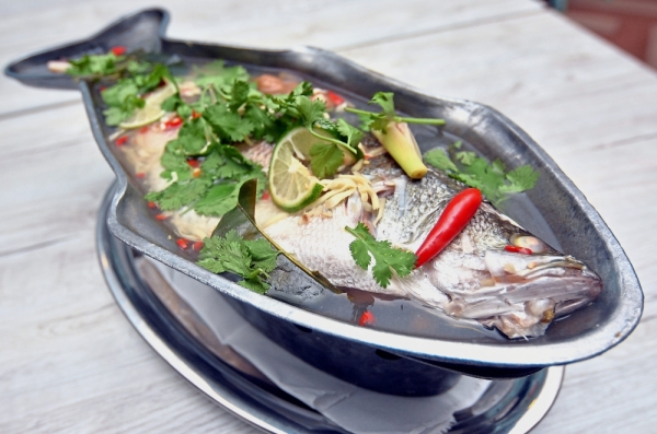 Thai cooking's essential flavours, combining sweet, sour, salty and spicy ingredients, come together in the Steamed Siakap with Lemongrass Sauce.