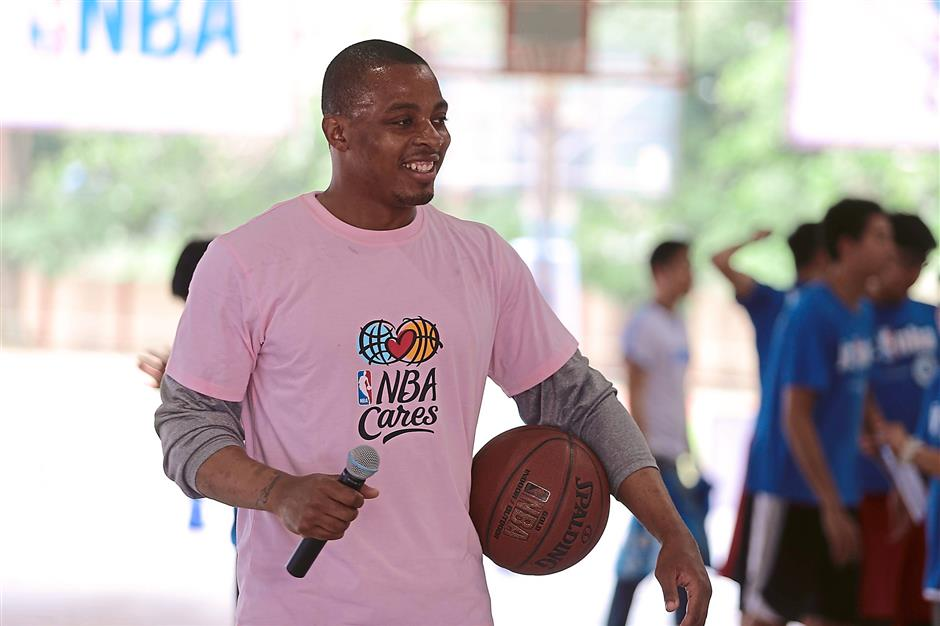 Crowd puller: NBA star Randy Foye participated in last year's programme.