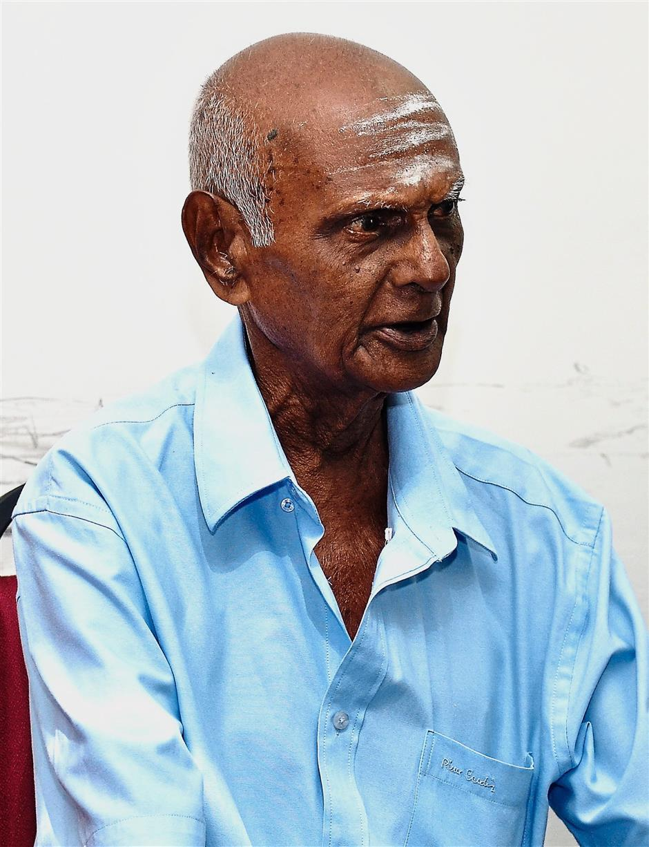 Death Railway survivor K.Arumugam, 91, acted as interpreter for the Japanese during the building of the railway. AHMAD ZAMIR/THE STAR