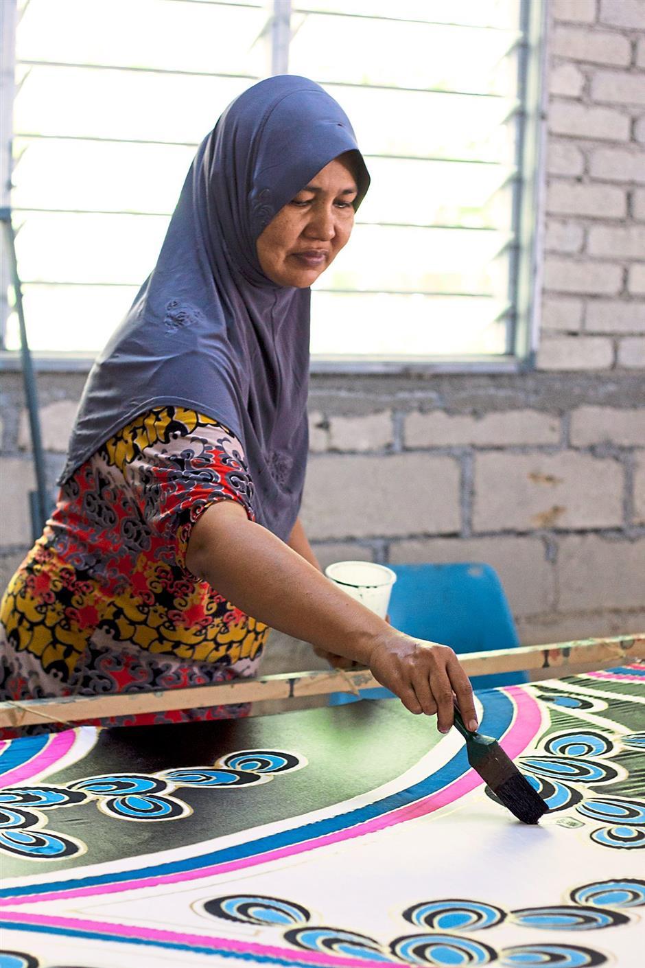 Batik Boutique gets all its batik textile from the East Coast.