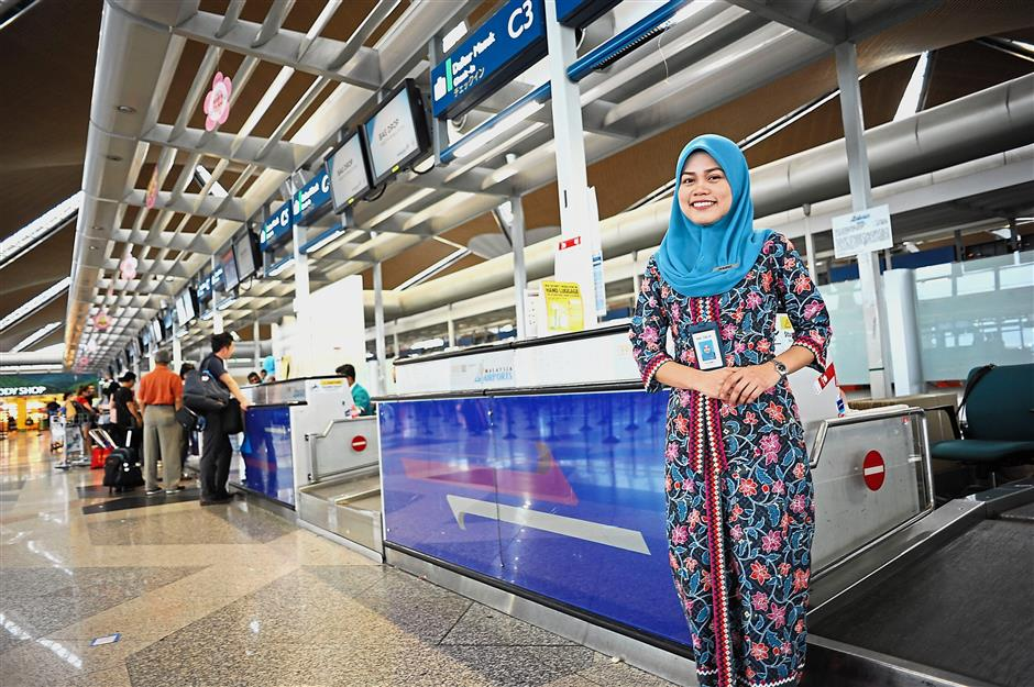 Taking her chances: Pajila secured an apprenticeship with Malaysia Airlines and eventually a job through SL1M's roadshow.