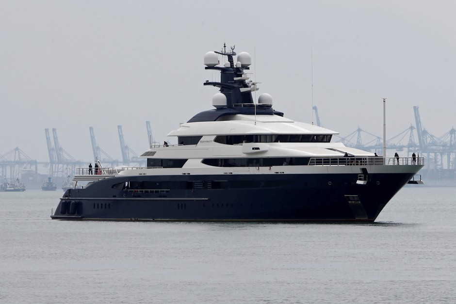 The superyacht Equanimity, belonging to Jho Low, is brought to Boustead Cruise Terminal in Port Klang, Malaysia on Aug 7, 2018. u2013 Reuters