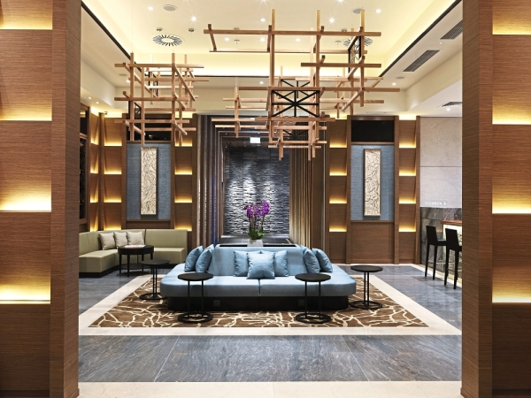 Pictured here is the Plaza Premium Lounge London T2 Departures entrance. The lounge has been voted 'World's Best Independent Airport Lounge'.