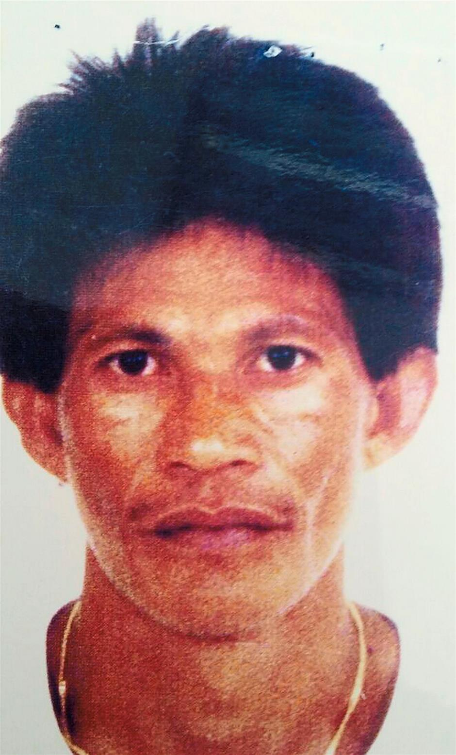 Pix of Apo Kahumbo, a mastermind of the kidnappings in east coast of Sabah.