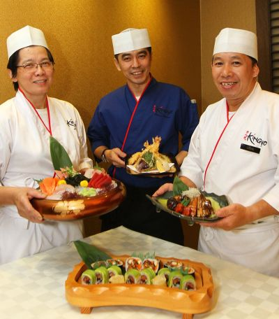 <b>Happy trio:</b> (From left) Liew, Phuah and Leong showing their special creations.
