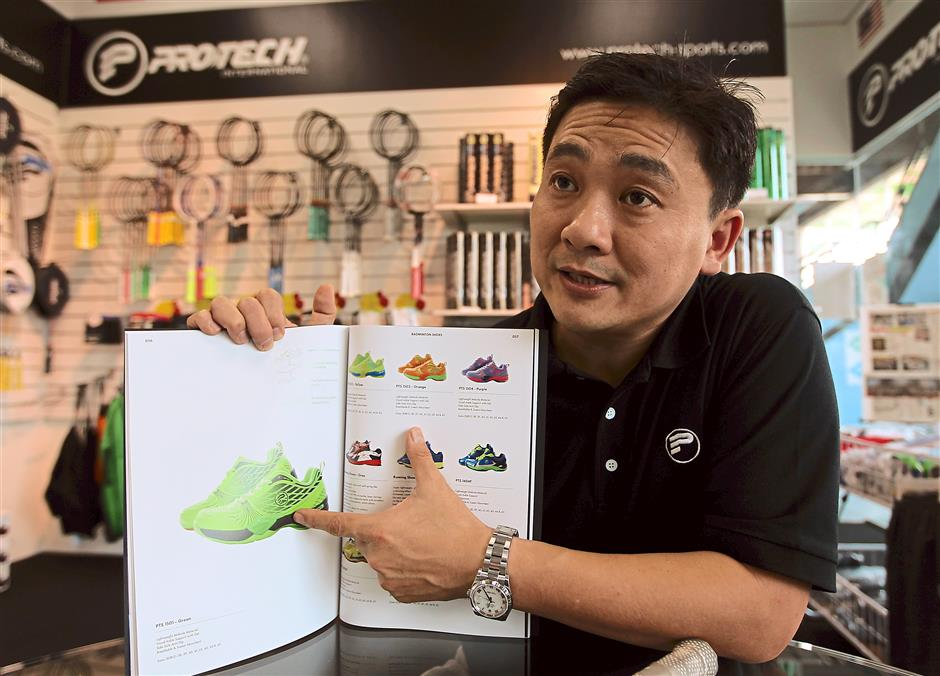 Chong: The company expanded into other badminton products including attire after its shuttlecock production was badly affected by the SARS outbreak.