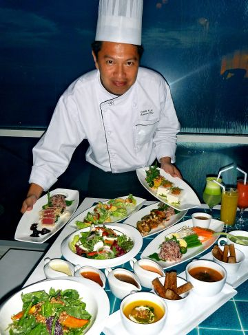 Tried and tested: Chan devised the healthy menu after six months of experimenting with differentflavours.