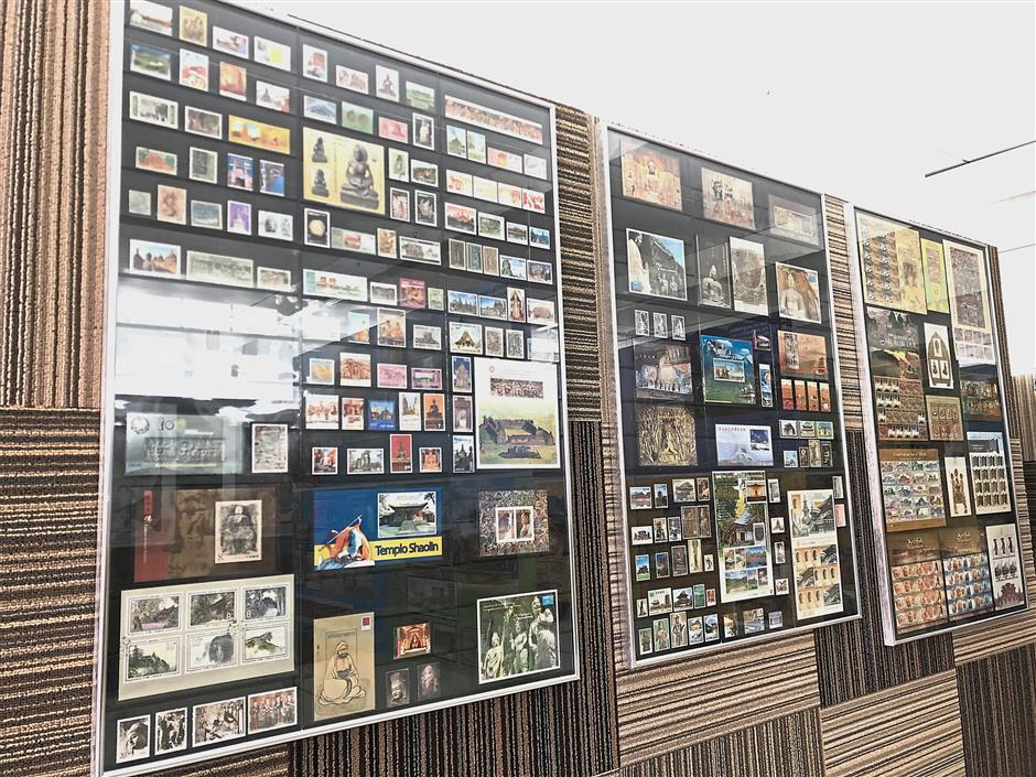 Leong's vast collection of stampsthat are categorised into different themes are now on display at the World Buddhist Stamps Gallery at YBMM's headquarter in Seang Teik road, George Town.