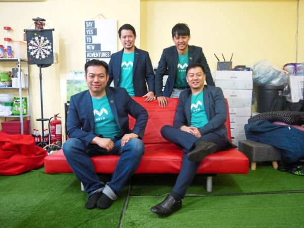 Catering to every need: (from left) Ong, Saw, Quek and Ding are bringing all the stakeholders in the property transaction ecosystem onto its platform.