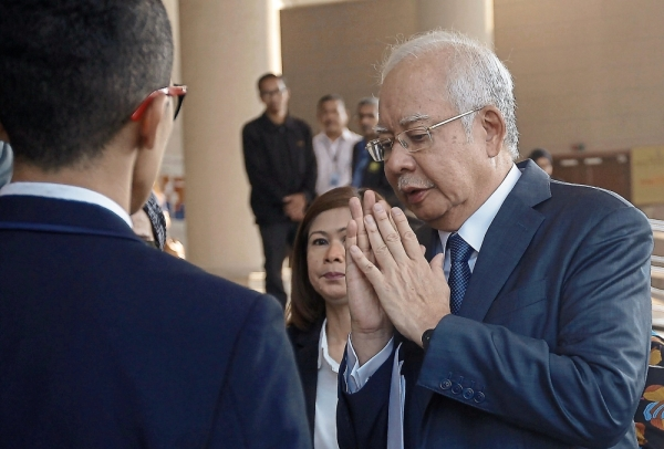 Higher level: Najib leaving after his case was transferred from the Sessions Court to the High Court. u2014 Bernama