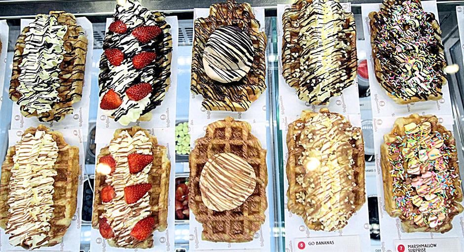 There are 10 Wafflemeister favourites available at the store daily.