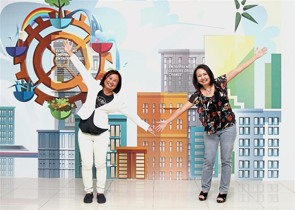 Going further: Lim (right) and her sister, Melinda Lim, who is the groups director of schools, are keen to bring its programme to other countries.